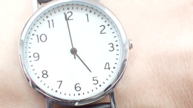 Close up of a wrist watch video
