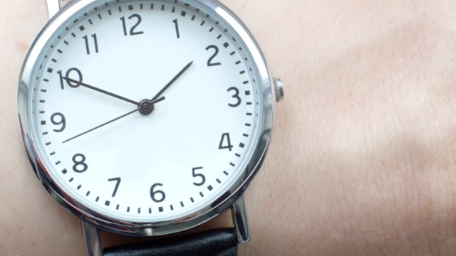 Close up of a wrist watch video