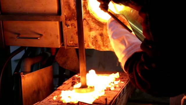 Close up of alloy casting video