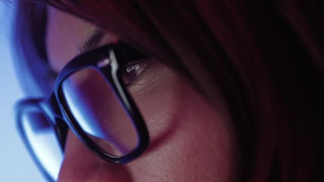 Close up van Aziatische meisje gezicht video