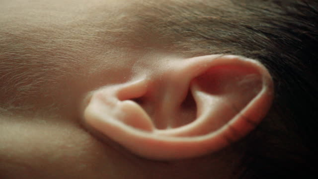close up of baby ear Ear, Baby, Close-up, Child, The Human Body, Newborn, ear stock videos & royalty-free footage