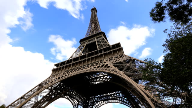 Close up of EIffel tower - Stock Video - Stock Video