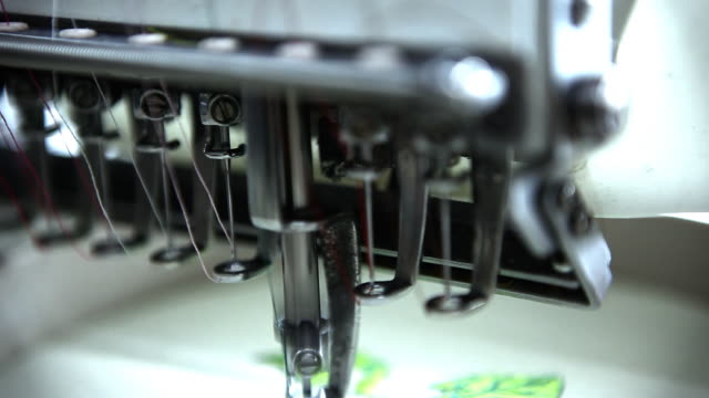 Close Up of Embroidery Machine video