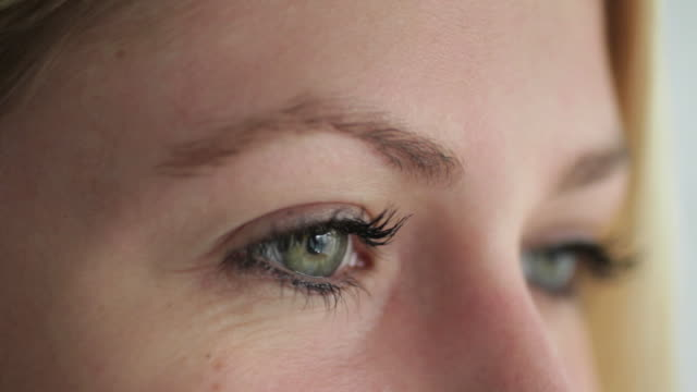 Close up of female eyes video