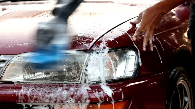Close up of Hand wash car Close up of Hand wash car dishwashing liquid stock videos & royalty-free footage