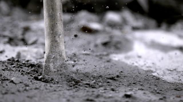 Close Up Of Jackhammer Chisel (Super Slow Motion)