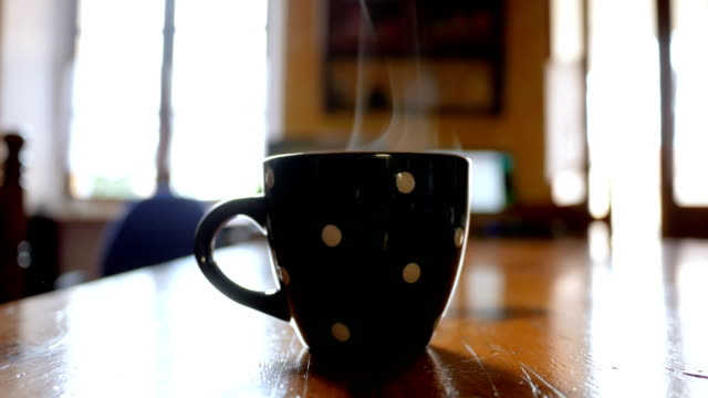 Close up of make flowing the coffee in cup Footage of make flowing the hot coffee into the cup in the morning mug stock videos & royalty-free footage