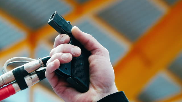 close up of male hand firing starting pistol to start race. sportive concept - race stock videos & royalty-free footage