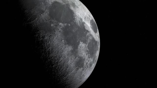 närbild av mooncykeln eller lunar fas animation - halvmåne form bildbanksvideor och videomaterial från bakom kulisserna