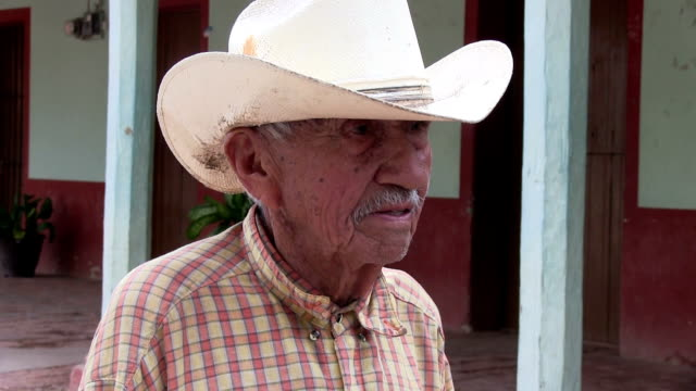 Close up of old Mexican Cowboy video