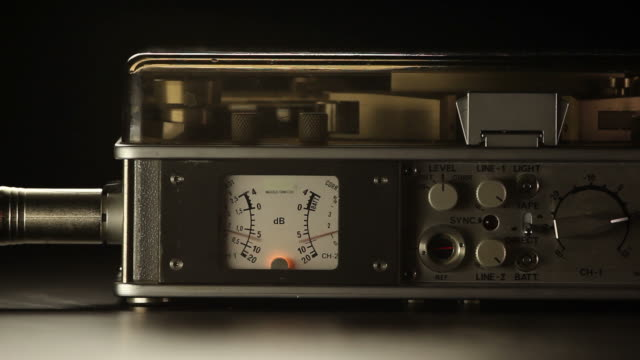 close up of old recorder video
