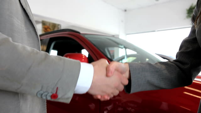 Close up of people shaking hand video