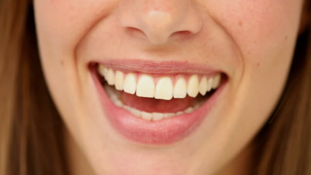 Close up of perfect female smile