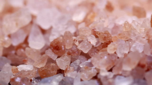 Close up of pink himalayan rock salt video
