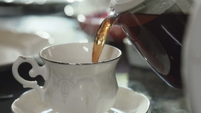 Close up of Pouring Tea video