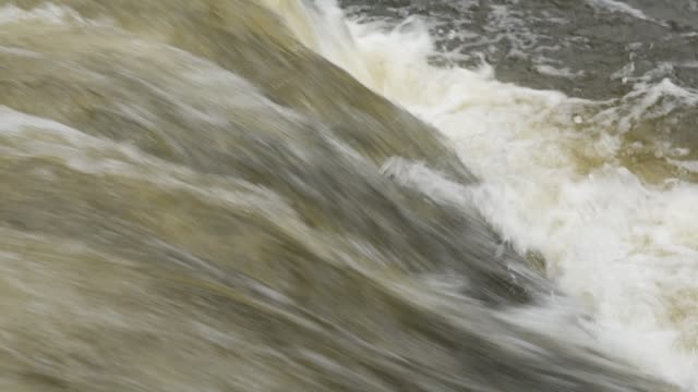 Close up of river stream flowing down
