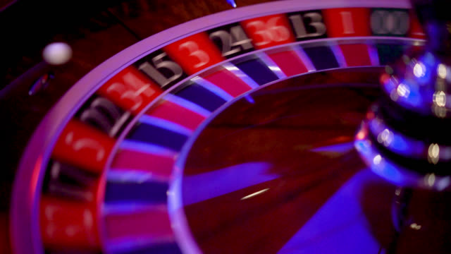Close up of roulette wheel spinning video