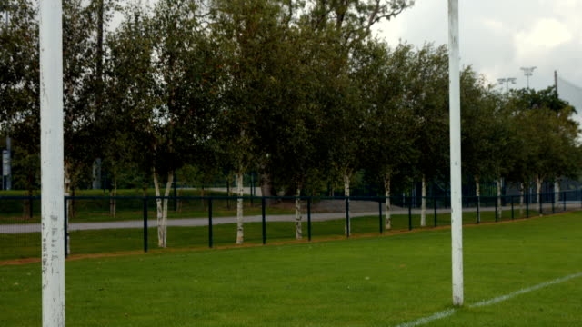 Close up of Rugby posts Close up of Rugby posts on the pitch goal post stock videos & royalty-free footage