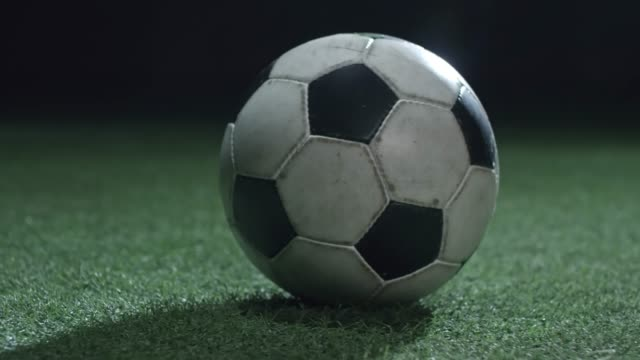 Close Up of Soccer Ball on Field video