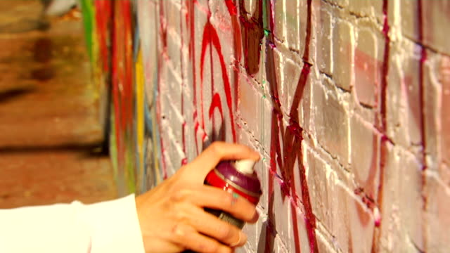 Close Up of Spray Can by Graffiti Artist video
