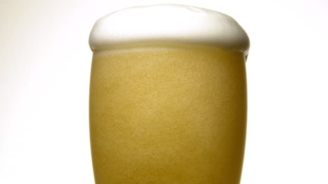 close up of the beer video