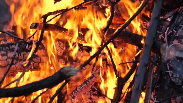 close up of the bonfire close up of the bonfire jp201806 stock videos & royalty-free footage