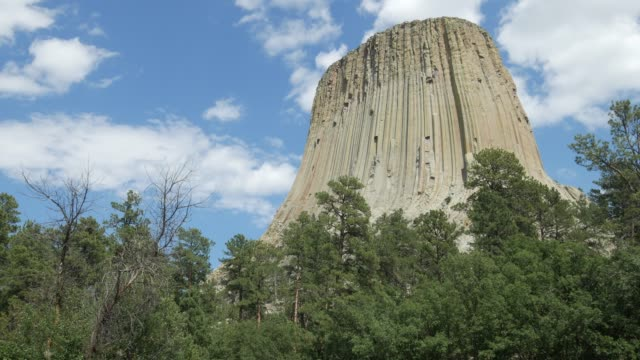 Close up of the Devils Tower also known as Bear Lodge Butte in Wyoming.