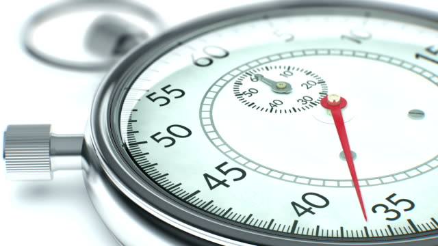 Close up of ticking chronometer (stopwatch). video
