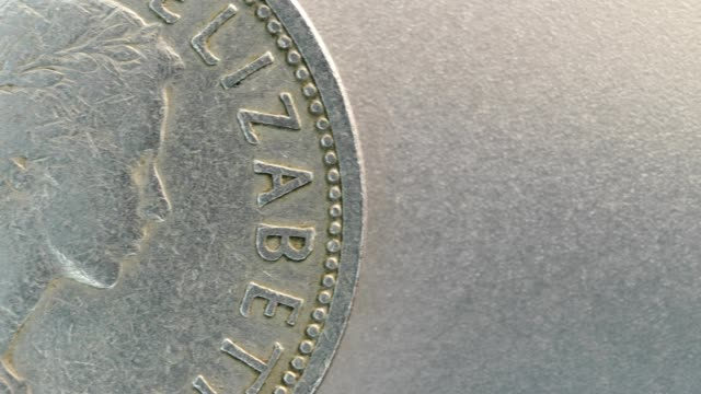 Close up of very old coins video