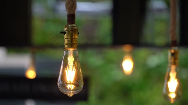 Close up of vintage lightbulbs