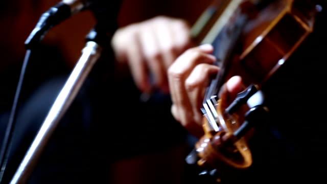 Close up of Violin cello players : HD VDO video