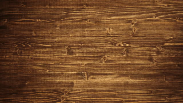 Close up of wall made of wooden planks. 4K.