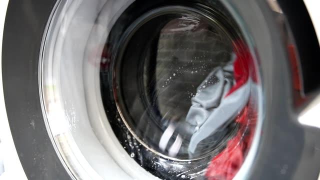 洗濯機のクローズ アップ。 - 洗う点の映像素材/bロール