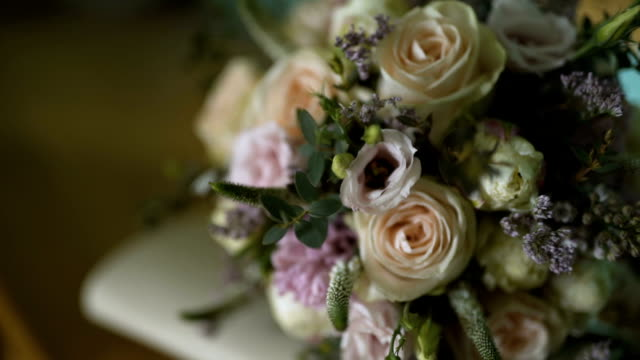 Close up of wedding bouquet video