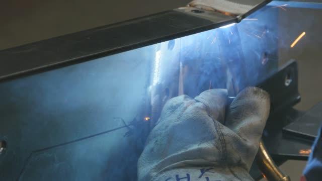 Close up of welding torch Welding video