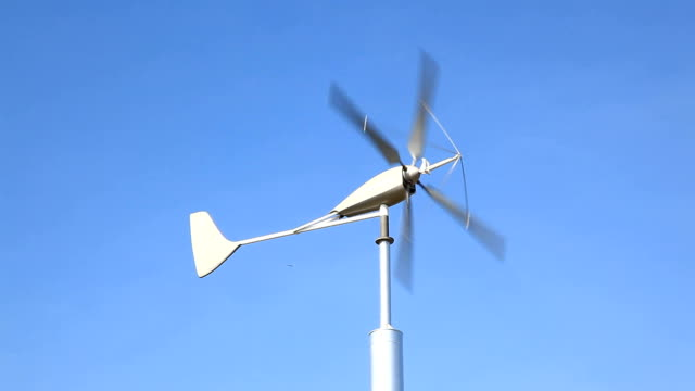 Close up of Wind turbines with Cloudscape, green energy Concept video