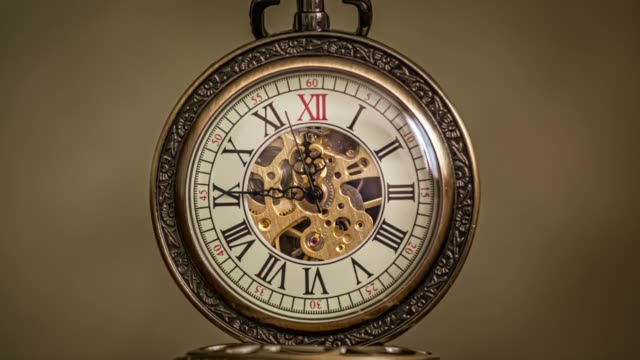 Close up on vintage clock