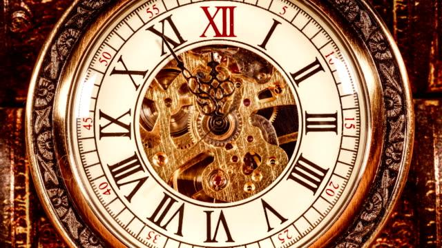 ヴィンテージ時計をクローズアップ - 時計点の映像素材/bロール
