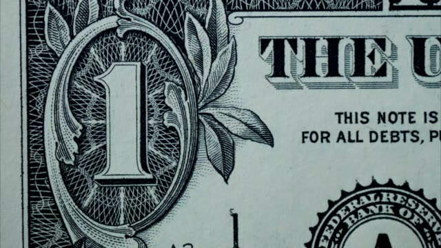 close up one dollar banknote close up one dollar banknote treasury stock videos & royalty-free footage