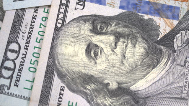 Close up one hundred dollars Close up one hundred dollars us paper currency stock videos & royalty-free footage