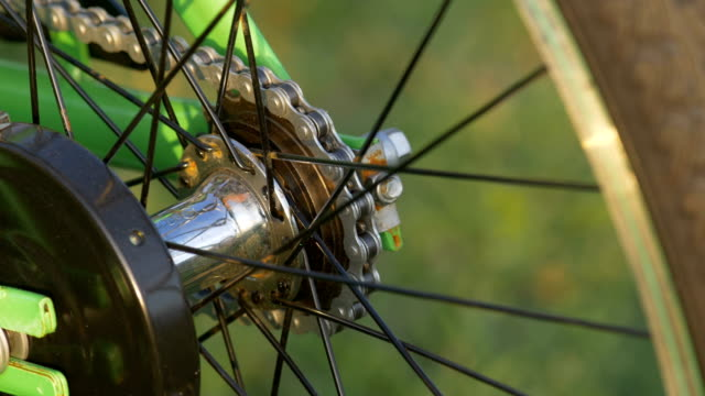 Close up parts of bicycle video
