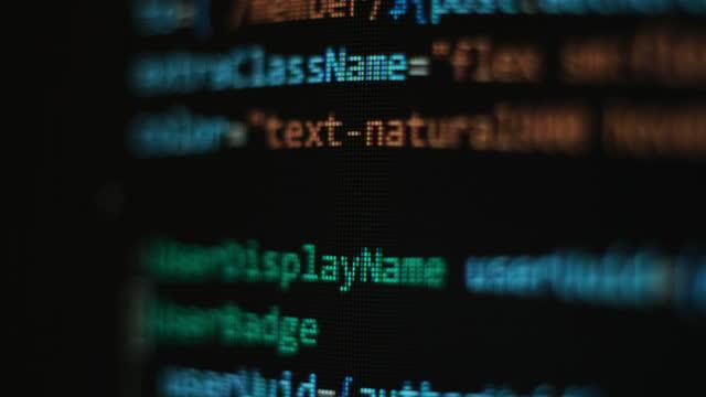 Close up pixel code