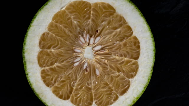 Close up pomelo in plate