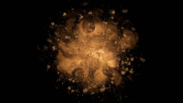 Patlamalar ve patlamalar gerçekçi 4 K kadar yakın + Alfa video
