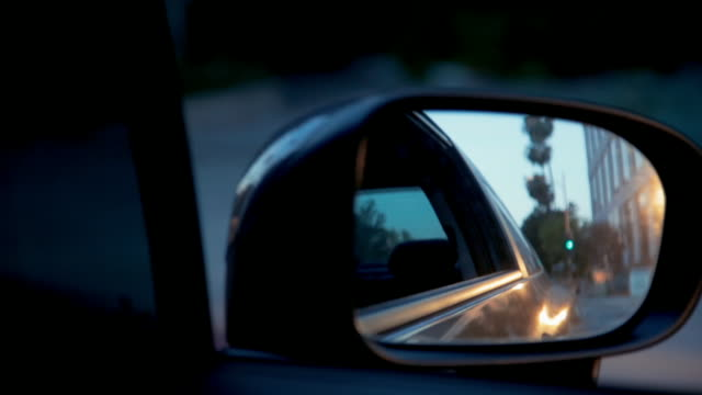 Close Up Rear View Mirror - Vidéo