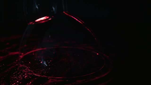 close up red soap bubbles on black background video