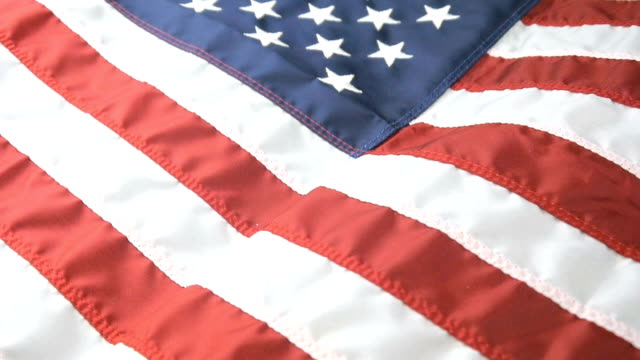 Close Up Shot of a Waving American Flag video