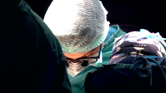 Close Up Shot of Doctor in Surgery
