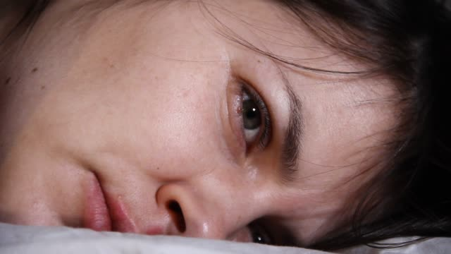 close up tired woman