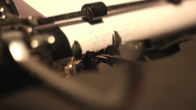 Close Up Typewriter Typebars on Page video